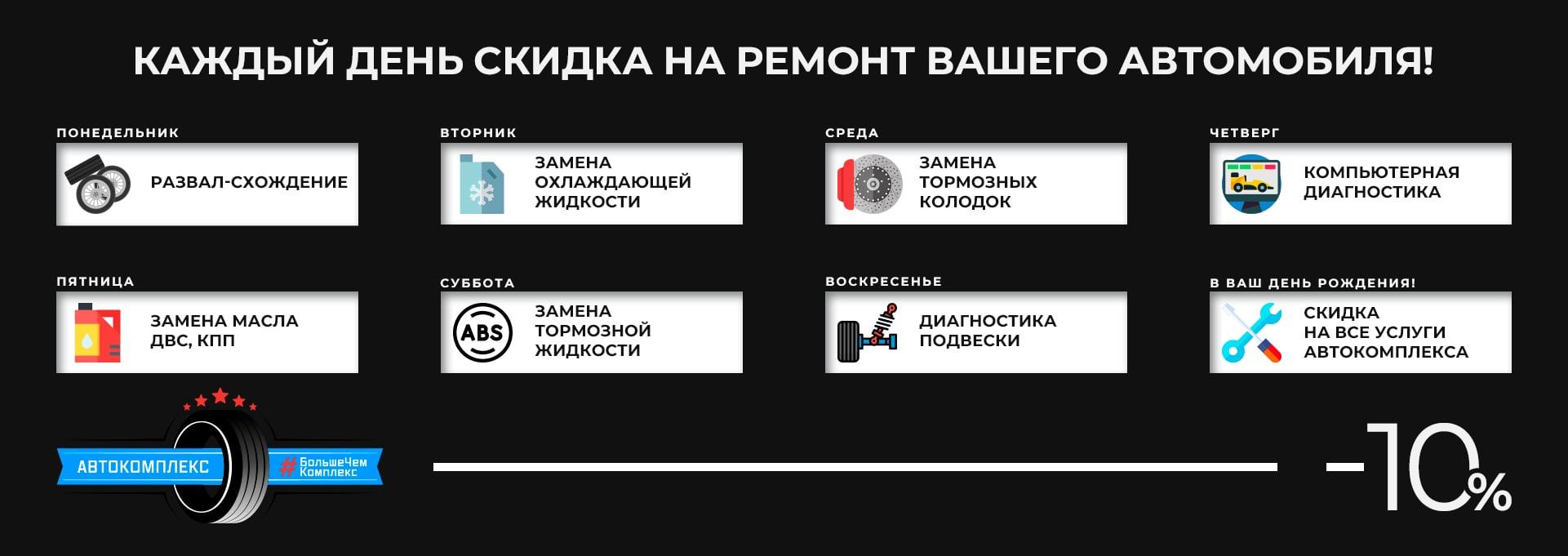 Скидки каждый день | Автокомплекс Кожухово Новокосино